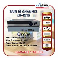 LOEWIX NVR IP KAMERA 16 CHANNEL LX-1916 XMEYE 16CH SUPPORT 5MP ONVIF