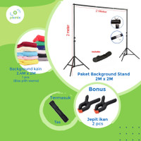 Background stand 2 x 2 meter | paket dengan background kain 2 x 2,4 m