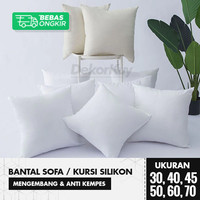 Bantal Sofa Silikon / Bantal Kursi Uk. 30, 40, 45, 50, 60, 70