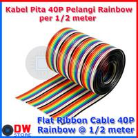 40P 40W 40 PIN KABEL PITA / FLAT CABLE RAINBOW 40 WIRE 40P 40 PIN