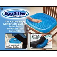 ALAS DUDUK SILIKON GEL EMPUK kursi bantal jok mobil egg sitter sarung
