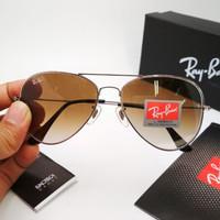 Kacamata Rayban Aviator 3026 Gradasi Vintage Brown