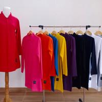 Kaos Polo Shirt Lacoste Muslimah Panjang Busui size XXXL Jumbo Big Siz