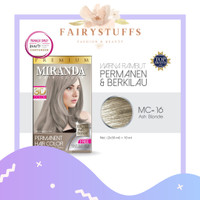Miranda Hair Color Premium Cat Pewarna Rambut Miranda MC 16 Ash Blonde