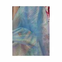 Kain Organza Cristal Pelangi ~ Bahan Organza Crystal Pelangi - Baby Blue