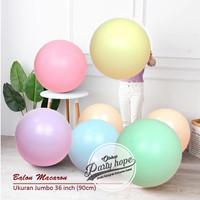 balon latex macaron jumbo / balon doff pastel dekorasi macaron 36inch
