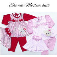 SHANIA MOSLEM SUIT baju muslim anak perempuan baju bayi babeebabyshop