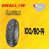 BAN LUAR SWALLOW 100/80-14 SB-128 SAMURAI TUBELESS