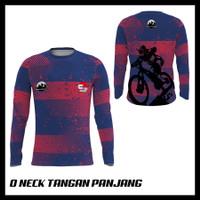 Baju Kaos Tshirt Jersey Pria Lengan Panjang Olahraga Sepeda 08