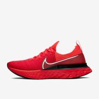 Sepatu Lari NIKE REACT INFINITY RUN FLYKNIT Black Crimson Red Original