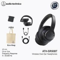 Audio-Technica ATH-SR50BT Wireless Over-Ear Headphones - Black