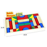 Mainan Edukatif / Edukasi Anak - Balok Kayu - Balok Bangun 42S
