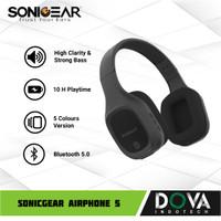 Sonicgear Airphone 5 Bluetooth Headphone with Mic - Hitam