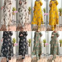 New Evi Set Setelan Celana Rayon Wanita Baju Hangout Santuy Modis