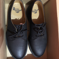 sepatu docmart dr martens 1461 pw black like new original
