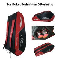 Tas Raket Badminton Lining - Merah