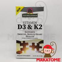 Nature's Answer Vitamin D-3 K-2 1000 IU 15 ml natures 120 D3 K2 drop