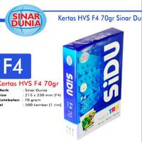 KERTAS HVS F4 70 GSM SINAR DUNIA / SIDU