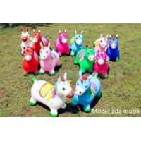 Mainan Kuda Kudaan Unicorn Anak, Mainan Loncat Kuda Karet Anak Unicorn