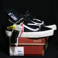 Sepatu Sneaker Kets Pria Vans Old Skool OG LX Import Quality - Hitam Putih, 38