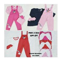 Baju Muslim Bayi Perempuan GM019 Overall Sayap Set Hijab