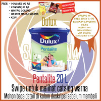 Dulux Pentalite Brilliant White 20 L Pail / Warna Standard & Khusus - Crispy Mauve