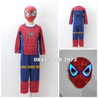 Baju Setelan Kostum Anak Karakter Superhero SPIDERMAN 2-5 Tahun