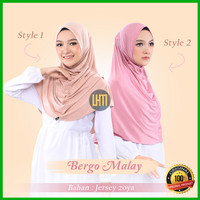 Jilbab Bergo Malaysia Terbaru Bahan Kain Jersey Premium Murah
