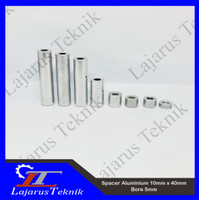 Spacer Aluminium 10mm x 40mm Bore 5mm