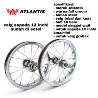 roda velg sepeda anak wheelset 12 inch mini bmx gerobak depan belakang
