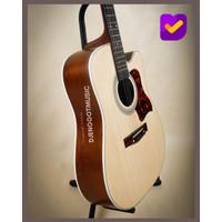 [Paket Lengkap] Gitar Akustik Pemula Mandalika JBS-01 Fullset