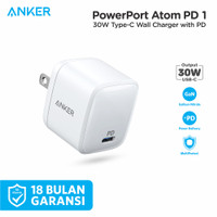 Wall Charger Anker PowerPort Atom PD 1 White - A2017