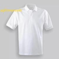 Polo Shirt Polos Warna Putih Pria & Wanita