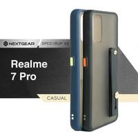 Realme 7 Pro - Nextgear Spectrum V2 Premium Hard Soft Case - Hitam