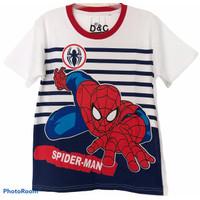 kaos anak cowok spiderman salur putih 1-10 thn D&C - 2thn