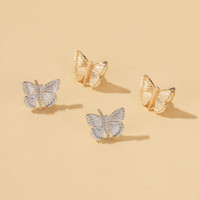 anting kupu-kupu retro simple butterfly earrings jan232