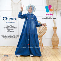 cheara gamis anak remaja baju muslim anak bahan jeans kinder