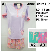Babydoll Anne Claire Lengan Pendek Celana Hotpant