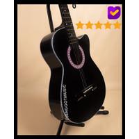 [Paket Lengkap] Gitar Akustik Hitam Mandalika S-01 Murah Fullset