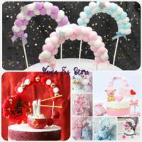 Topper Cake / Hiasan Kue Desain Arch Hairball / Dekorasi Pesta