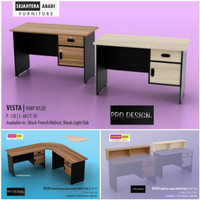 meja tulis 1/2 biro / meja kantor / meja receptionis VMP 120 Prodesign