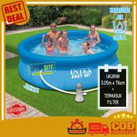 Intex Easy Set Swim Pool 10 FT Kolam Renang Bulat Karet Keluarga