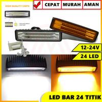 LED BAR SLIM 24 TITIK CWL 72W HIGH QUALITY 12-24 VOLT LAMPU TEMBAK