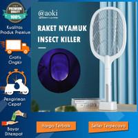 RAKET NYAMUK 2 IN 1 CANGGIH & EFEKTIF INSERCT KILLER WIRELESS CHARGER