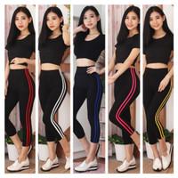 Setelan baju senam fitness olahraga gym yoga zumba wanita import