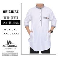 Baju Koko Qurta Kurta Ar-Ridho Katun Premium Ukuran Jumbo