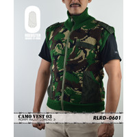 Rompi Rajut Loreng AD 3 - Ground Forces Camou Vest 3 - L