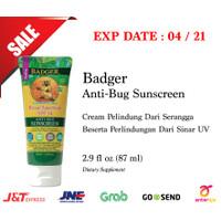 SALE Badger Anti Bug Sunscreen 87mL Cream Anti Serangga Tabir Surya