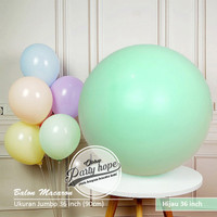 balon latex macaron jumbo Hijau / pastel dekorasi macaron 36 inch