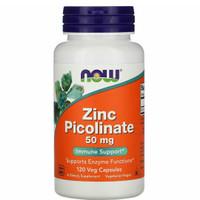 Now Foods Zinc Picolinate 50mg 120 Veg Capsules